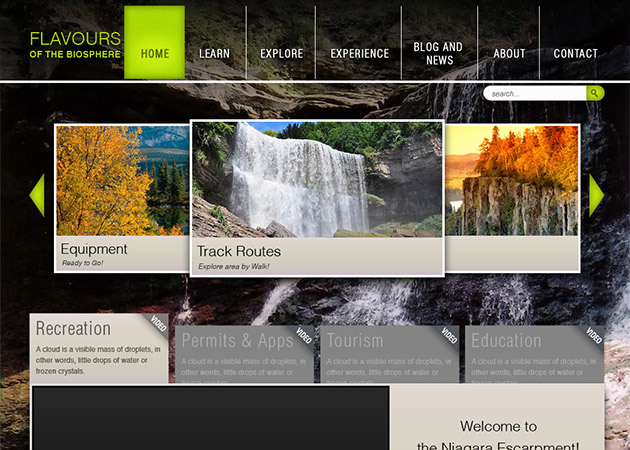 Flavours of the Biosphere website