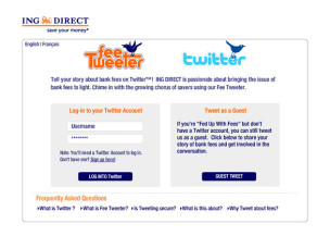 ING Direct - Fee Tweeter