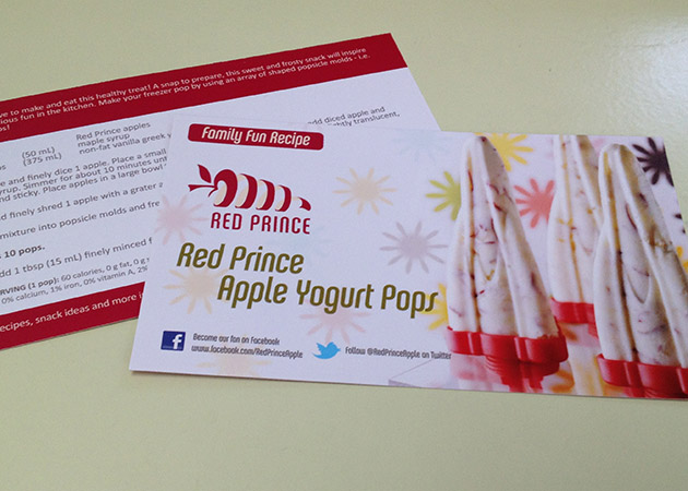 Red Prince Apples - Product Insert