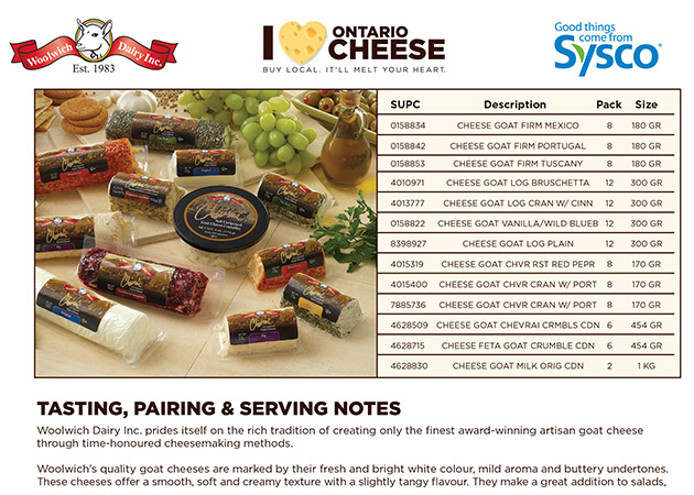 Sysco Cheese - Sales Sheets