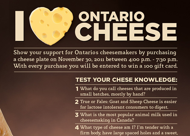 I Love Ontario Cheese - Poster